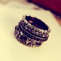 Sunshine store jewelry jet wholesale 5 pcs/set vintage gorgeous finger rings J171