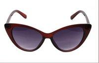 Free shipping Cat-eye sun glasses fashion t metal brief mirror anti-uv sunglasses,woman glasses