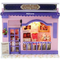 Creative assembled model diy lamp European shop series --Queen Shop, 1 set