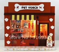 N3 Creative assembled model diy lamp European shop series --pet world, 1 SET