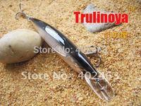 Free shipping fishing Lure reel   MINNOW  95mm/ 9g DW11-F  Grey Color  2  Crank hook  fishing hard bait lure
