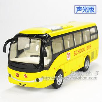 Domestic school bus acoustooptical WARRIOR alloy car model toy