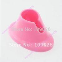 Free Shipping - Pink Nail Art Varnish Polish Salon Display  Bottle Rubber Holder Stand  #NA943