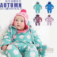 Newborn clothes autumn and winter thermal thick monk clothing set newborn baby clothes baby wadded jacket cotton-padded jacket