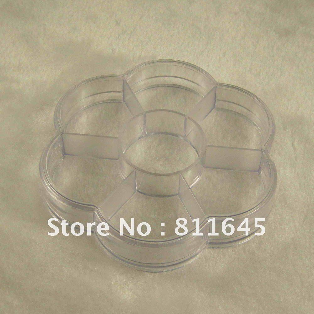 Free shipping EMS OR DHL Transparent cosmetic jewelry box Pill box 7 grid DIY (100pcs/lot)(China (Mainland))