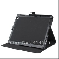 high quality Litchi patten Leather Case For the new iPad