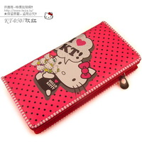Free shipping 10 hello kitty long design wallet HELLO KITTY wallet rose
