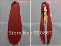 Diffuse beautiful wig dark red temperature wire COS wig animal husbandry Lai red lisa habitat fate of the stone door