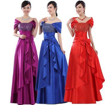 Длинный formal dress clothes banquet prom evening dress  2014 plus Размер Белый ...