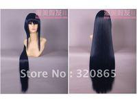 Diffuse beautiful wig blue black long straight hair fox X servant SS blue ghost court damselfly sailor moon Mars