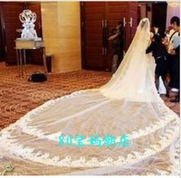 Long tailed Veil Bride accessories bride veil 5-12 meters.Free shipping