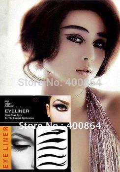 Sample Free shipping 12sets/lot 3 styles eye shadow eyeliner eye liner stickers cosmetics makup Temporary Tattoos topwin makeup