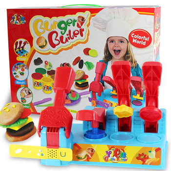 Little Man Large playdough creative playdough plasticine hamburger mould set color clay free shipping