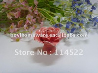 pink rose ceramic decorative furniture knobs handles pulls wholesale and retail shipping discount 200pcs/lot MG-6