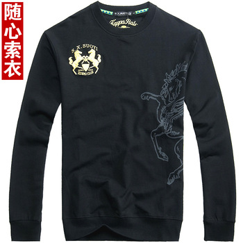 autumn classic double real madrid armband embroidered long-sleeve autumn and winter sweatshirt 5396
