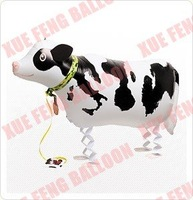 Free Shipping  Dairy cow Balloon animals,balloon walking pet,20pcs/lot