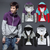2012 autumn top casual lovers cardigan men's clothing clothes male with a hood sweatshirt outerwear
