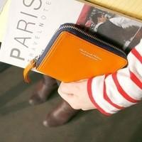 Zipper leather women's wallet short design wallet zipper short design wallet