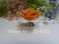 zinc alloy ceramic pink rose knobs wholesale and retail shipping discount 200pcs/lot MG-12