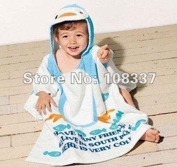 4pcs/lot cartoon style baby cotton bathrobe kid beach towel children bath towel free shipping