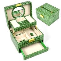 jewelry box semi automatic drawer jewelry box  Teal