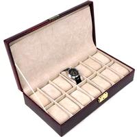 Jewelry box 3166 red 14 locking watch box watch display box