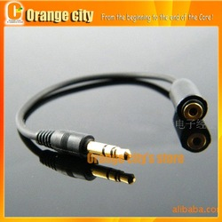 Free shipping 3.5mm Male to 2.5mm Female Headset Audio Adapter Cable convertor cable 50pcs/lot(China (Mainland))