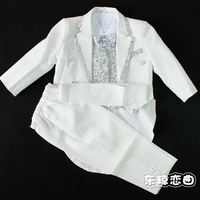 Free shipping Xz03 child suit child tuxedo male child formal dress 5 piece set 1 - 8