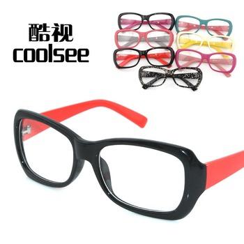 free shipping christmas Fashion plain mirror preppy style black-rimmed glasses elegant frame plain glass spectacles