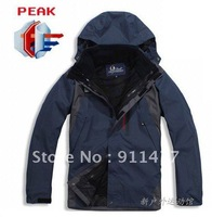 2012 Men outdoor 2in1 windproof waterproof warm ski jacket  free shipping
