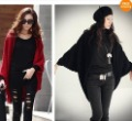 Vogue Lady's Women's Batwing Cape Poncho Knit Top Cardigan Sweater Coat Outwear