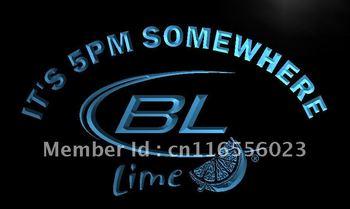 LA679- It's 5 pm Somewhere Bud Lite Lime Neon Light Sign    hang sign home decor shop crafts led sign