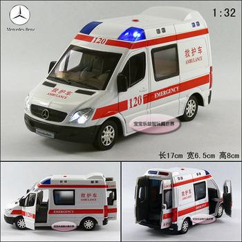 120 ambulance exquisite alloy acoustooptical alloy car model