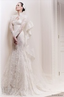ZH525 Zuhair Murad Sweetheart neck with long sleeve jacket 2014 new arrival lace wedding dress