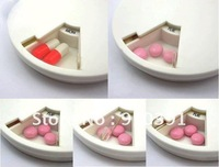 Free shipping travel week pill box,travel pill case,medicine splitter,plastic pill container,the aged supply.