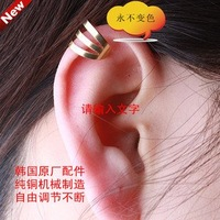 50pcs Cool Gold  Cuff Earring,Free shipping/Wholesale Gothic Punk Clip Earrings/ear Cuff high quality