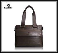Genuine real Leather Shoulder vintage Bag Messenger man Briefcase handbag cross