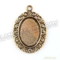 60pcs/lot  Hot Sale Oval Photo Frame Charm Antique Gold Plated Charms Zinc Alloy Fashion Jewelry Pendant Fit Necklace DIY143239