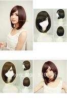 Is black hair wigs girls hair fleeciness BOBO head short straight hair style fashion BOBO head wig