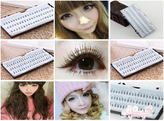 2 Pack 120 Pcs Individual Black Fake Eyelash Cluster Eye Lashes Extension Tray (1076)(China (Mainland))