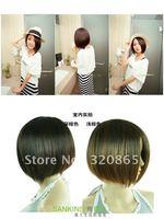 Is black hair wigs girls hair jiafa split bang bobo head fashion shave hair design