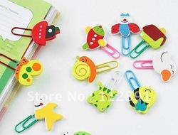 Cartoon Wooden Paper Clip/ Cartoon Bookmark A646(China (Mainland))