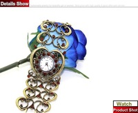 1pcs/lot, Heart Bronze Vintage Fashion Jewelry Promotional Gift New Style Watches, Free Shipping