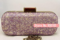 free shipping new arrivalAmber silk style everta bag women fashion lace clutch evening bag. multicolor