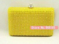 free shipping new arrival Hot-sale luxury diamond rhinestone quadripartite women evening bag /dress clutch party bags