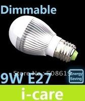 E27 9W 3X3W Dimmable Led Globe Light Bulb Lamp Cool /Warm White 110V 240V High Power Led Down Lights