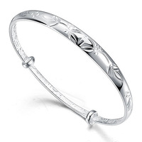 999 fine silver decorative pattern women's bracelet fashion pure silver bracelet