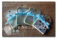 Wholesale craft Paper Blank Heart Shape Gift Tag Retro Hang tag 240cs/lot Free shipping