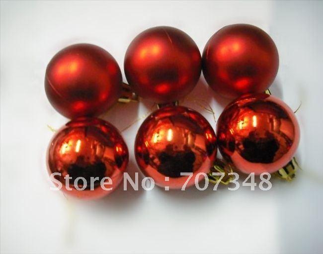 Free shipping(50pcs/lot) Christmas tree decorated/high-grade blue honed hot stamping Christmas ball /4cm Blue(China (Mainland))