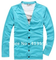 2014 free shipping 2013 autumn cardigan man V collar cultivate one's morality sweater ow473